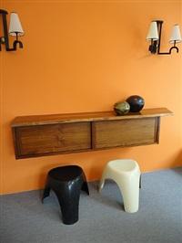 walnut hanging cabinet by george nakashima