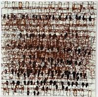 untitled (brown) by mark bradford