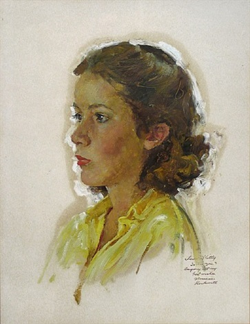 portrait of kitty ross by norman rockwell