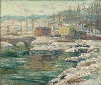 tibbetts creek in winter by ernest lawson