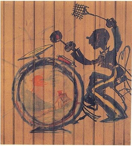 drummer from the jazz murals (# 5 of 5) by franz kline