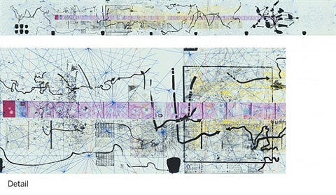 untitled (the map of the land of feeling) iii (passport dates: 1988 - 1997) by rirkrit tiravanija
