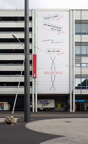 brought to touch by lawrence weiner