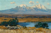 spanish peaks, colorado by charles partridge adams