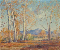 golden sycamores by arthur hill gilbert
