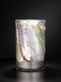 silvered blanket cylinder by dale chihuly