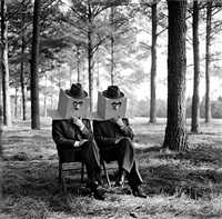 men with boxes on head, brunswick, ga (ref-gpa-0201-060-11) by rodney smith