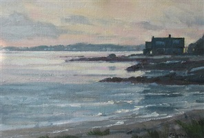 shoreline evening by carolyn walton