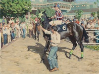 at the races, the jockey by tim solliday
