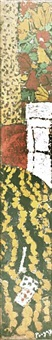 atelier, tapisserie orange by jean pougny