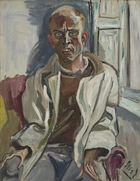 randall in extremis by alice neel