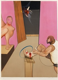 oedipe & the sphinx after ingres, 1983 by francis bacon