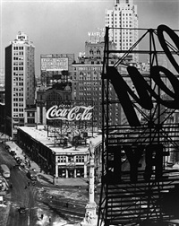 columbus circle #3, new york by berenice abbott