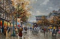 rue de la madeleine by antoine blanchard