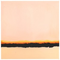 film edge (pink sky, yellow and black horizon) by isca greenfield-sanders