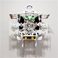 white discharge (built-up objects #17) by teppei kaneuji