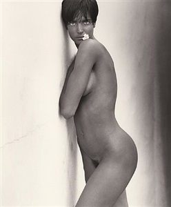 stephanie with flower, los angeles by herb ritts