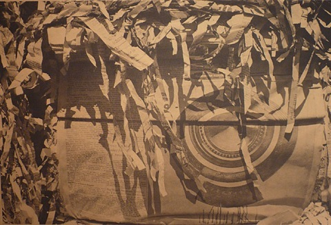 untitled (tire with paper shreds) by dennis hopper