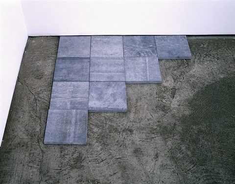 blue stone ó 4 by carl andre