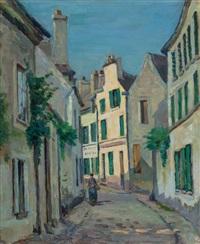 rue lepic à montmartre, paris by armand guillaumin