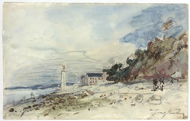 phare à honfleur by johan barthold jongkind
