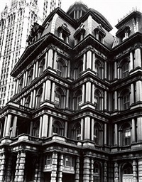 old post office, broadway and park row, manhattan, may 25, 1938 by berenice abbott