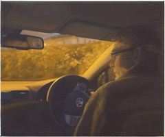 man watching from a car by paul winstanley
