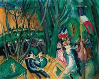 le bal populaire by raoul dufy