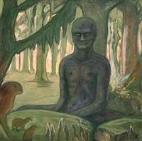 buddhist im walde by alfred kubin
