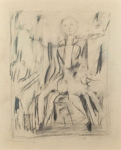 untitled seated figure (z. sharkey) by jack tworkov