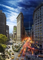 flat iron building, day to night by stephen wilkes