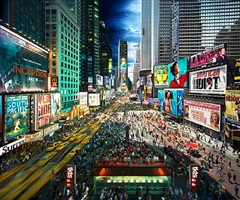 times square, day to night by stephen wilkes