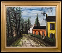 cafe au bord de la route by bernard buffet