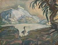 berglandschaft mit vogel by alfred kubin