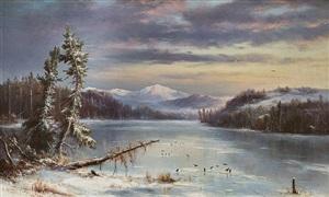 snowy landscape by régis françois gignoux