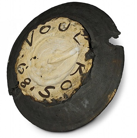 rare black platter by peter voulkos