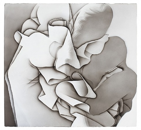crumpled drawing by alexi worth