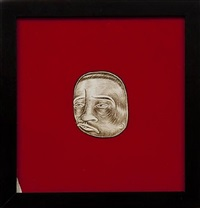 untitled (brown head) by barry mcgee