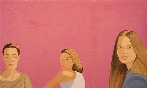 three women on pink by alex katz