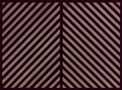 untitled (black and gray diagonal lines in two directions with a black border) by sol lewitt