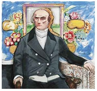 daniel webster and a blue wall by larry rivers