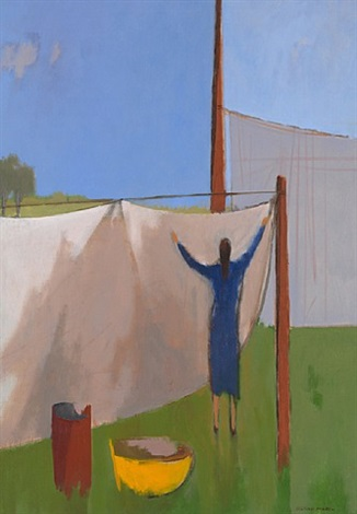 drying clothes by herman maril