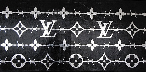 lv barb wire black & silver by zevs