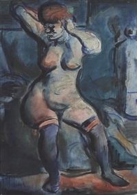 fille (femme aux cheveux roux) by georges rouault