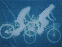 bicyclists by zhang dali