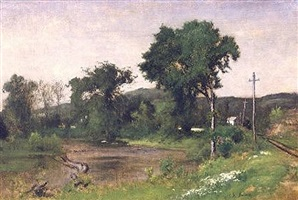 pompton junction by george inness