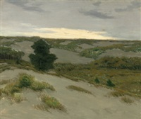 the gray dunes, belgium by charles warren eaton