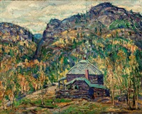 jack rabbit lodge on road to cripple creek by ernest lawson