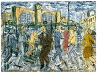 kings cross, march afternoon by leon kossoff