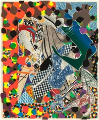 a bower in the arsacides (from the moby dick deckle edges series) by frank stella